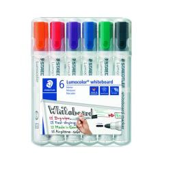 Cheap Stationery Supply of Staedtler Lumocolor 351 Drywipe Marker Assorted (Pack of 6) 351 WP6 Office Statationery