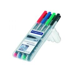 Cheap Stationery Supply of Staedtler Lumocolour Non-Permanent Fine Assorted (Pack of 4) 316-WP4 Office Statationery