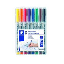 Cheap Stationery Supply of Staedtler Lumocolour Non-Permanent Medium Assorted (Pack of 8) 315-WP8 Office Statationery