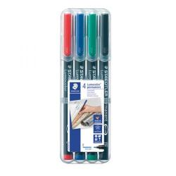 Cheap Stationery Supply of Staedtler Lumocolour Pen Permanent Fine Assorted (Pack of 4) 318-WP4 Office Statationery