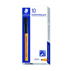 Cheap Stationery Supply of Staedtler Handwriting Fineliner Black (Pack of 10) 309-9 Office Statationery