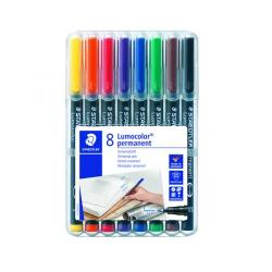 Cheap Stationery Supply of Staedtler Lumocolour Pen Permanent Fine Assorted (Pack of 8) 318-WP8 Office Statationery
