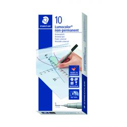 Cheap Stationery Supply of Staedtler Lumocolor Pen Superfine Non-Permanent Black (Pack of 10) 311-9 Office Statationery
