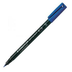 Staedtler Lumocolor Superfine Permanent OHP Blue Pen (Pack of 10) 313-3