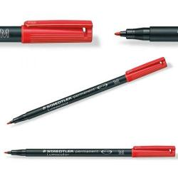 Cheap Stationery Supply of Staedtler Lumocolor Medium Tip Permanent OHP Red Pen Pack of 10 317-2 Office Statationery