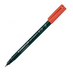 Staedtler Lumocolour Pen Permanent Fine Red (Pack of 10) 318-2