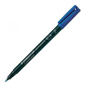 Staedtler Lumocolour Pen Permanent Fine Blue (Pack of 10) 318-3
