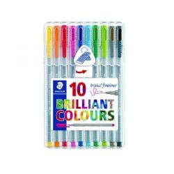 Cheap Stationery Supply of Staedtler Triplus Fineliner Pen Assorted Colours (Pack of 10) 334 SB10 Office Statationery