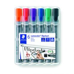Cheap Stationery Supply of Staedtler Flipchart Marker Assorted (Pack of 6) 356Wp6 Office Statationery