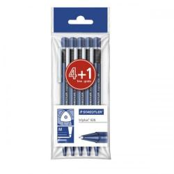 Cheap Stationery Supply of Staedtler triplus 426 0.3mm Medium Tip Ballpoint Pen 0.45mm Line Width Blue 1 x Pack of 4 with 1 FREE Pen 426PB5 Office Statationery
