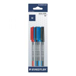 Cheap Stationery Supply of Staedtler Stick 430 Ballpoint Medium Assorted (Pack of 60) 420MSBK6D Office Statationery