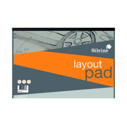 Cheap Stationery Supply of Silvine Layout Pad 80 Sheets A3 A3LP Office Statationery