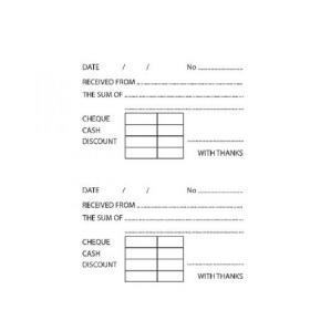 NEW 7 x DUPLICATE CASH RECEIPT BOOK Silvine Office Accounts 7 x Books