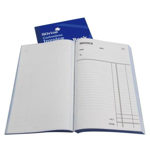 Pack of 6 711-T Silvine Carbonless Duplicate Invoice Book 210x127mm