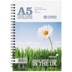 Cheap Stationery Supply of Silvine Carbon Neutral Ruled Notebook A5 120 Pages (Pack of 5) R303 Office Statationery