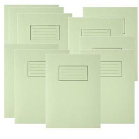 Silvine Exercise Book Ruled 229x178mm Green (Pack of 10) EX102