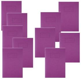 Silvine Exercise Book Ruled with Margin A4 Purple (Pack of 10) EX111