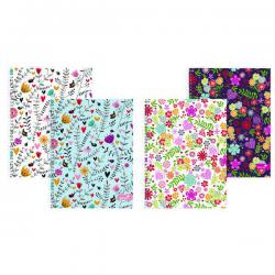 Cheap Stationery Supply of Silvine Marlene West Heart Flower Notebook A4 Plus (Pack of 4) TWA4MW Office Statationery