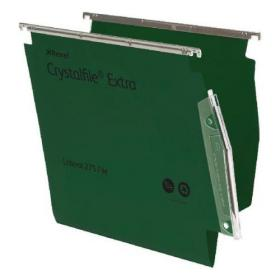 Rexel Crystalfile Extra Lateral File Polypropylene 15mm V-base A4 Green Ref 70637 Pack of 25