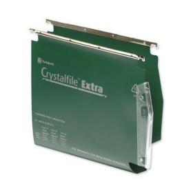 Rexel Crystalfile Extra Lateral File Polypropylene 30mm Wide-base A4 Green Ref 70640 Pack of 25