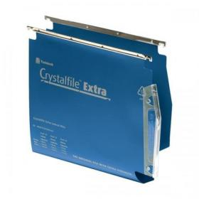 Rexel Crystalfile Extra Lateral File Polypropylene 30mm Wide-base A4 Blue Ref 70642 Pack of 25