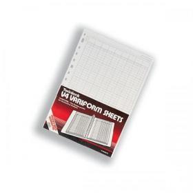 Twinlock V4 Variform 4 Column Cash Sheets 298x212mm Ref 75930 Pack of 75