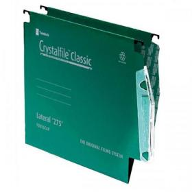 Rexel Crystalfile Classic Linking Lateral File Manilla 15mm V-base Green 230gsm A4 Ref 78652 Pack of 50