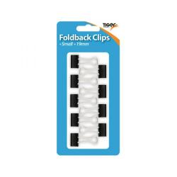 Cheap Stationery Supply of Tiger Small Fold Back Clips 19mm (Pack of 108) 302004 Office Statationery
