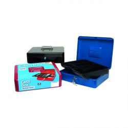 Cheap Stationery Supply of Cash Box 12 Inch Assorted (Pack of 6) 301172 Office Statationery