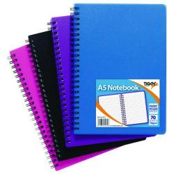 Cheap Stationery Supply of Sundry A5 Wiro Polypropylene Notebook (Pack of 5) 301472 Office Statationery