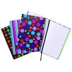 Cheap Stationery Supply of A5 Fashion Assorted Feint Ruled Casebound Notebooks (Pack of 5) 301651 Office Statationery