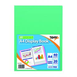 Cheap Stationery Supply of Display Book A4 20 Pocket Assorted Pastel (Pack of 10) 302012 Office Statationery