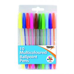 Cheap Stationery Supply of Ballpoint Pens 10 Multicoloured (Pack of 12) 302256 Office Statationery