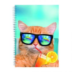 Cheap Stationery Supply of Cats and Dogs Twinwire Notepads A4 (Pack of 5) 302366 Office Statationery