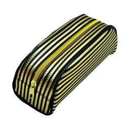 Cheap Stationery Supply of Metallic Striped Pencil Case Gold/Purple (Pack of 12) 302376 Office Statationery