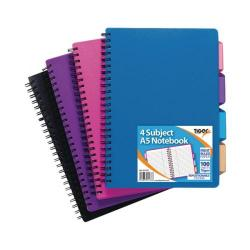 Cheap Stationery Supply of Tiger A5 Assorted Subject Notebook (Pack of 5) 301476 Office Statationery