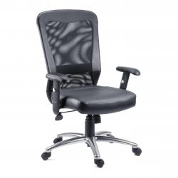 Cheap Stationery Supply of Teknik Office Breeze Contemporary Executive Mesh And Bonded Leather Chair With Height Adjustable Arms Office Statationery