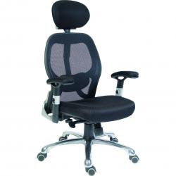 Cheap Stationery Supply of Teknik Office Cobham Black Executive Chair Breathable Mesh Backrest Matching Height Adjustable Padded Armrests Office Statationery