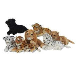 Cheap Stationery Supply of Cuddly Toy Real Life Jungle Cats 8 inch 7 145/990 145/990 Office Statationery