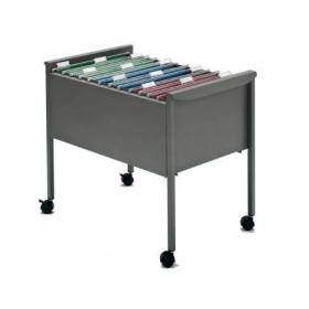 Rexel Filemate Mobile Filing Trolley Titanium Grey 50559