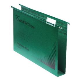 Rexel Crystalfile Extra 30mm Lateral File Green (Pack of 25) 70640