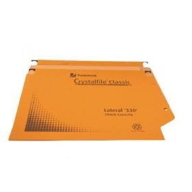 Rexel Crystalfile Classic 50mm Lateral File Orange (Pack of 25) 70673