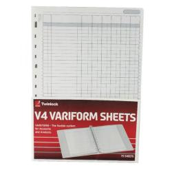 Cheap Stationery Supply of Rexel Variform V4 6-Column Cash Refill (Pack of 75) 75932 Office Statationery