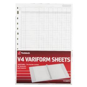 Rexel Variform V4 7-Column Cash Refill (Pack of 75) 75933