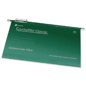 Rexel Crystalfile Classic Suspension File A4 Green (Pack of 50) 78045