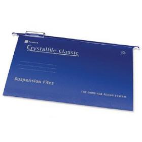 Rexel Crystalfile Classic Suspension File A4 Blue (Pack of 50) 78160