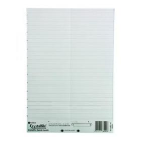 Rexel Crystalfile Classic Linked Tab Inserts White (Pack of 50) 78290