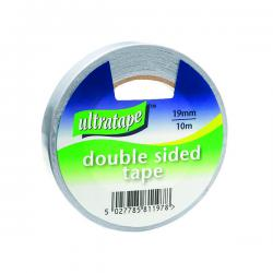 Cheap Stationery Supply of Double Sided Tape 19mmx10m 1 Roll Ultra Clear (Pack of 12) DS01031910UL Office Statationery