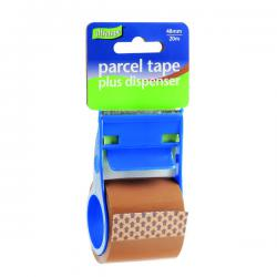 Cheap Stationery Supply of Parcel Tape and Dispenser 48mmx20m Buff (Pack of 12) RT0808-48X20 Office Statationery