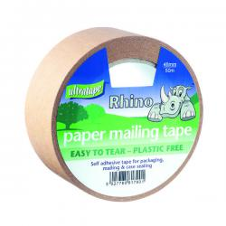 Cheap Stationery Supply of Ultratape Rhino Paper Mailing Tape 48mm x 50m (Pack of 18) PM02124850RH Office Statationery